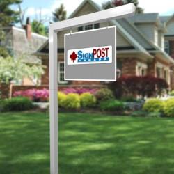 modern sign post