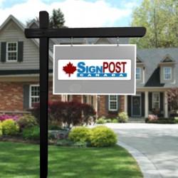 black real estate post
