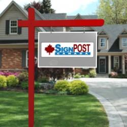 red cross arm post