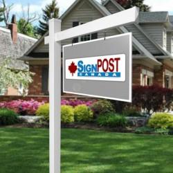 vinyl real estate sign post