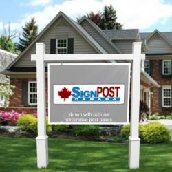 large real estate sign frame