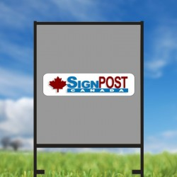 24 x 18 real estate sign frames vertical