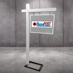 display stand for real estate sign post