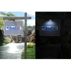 real estate solar sign light